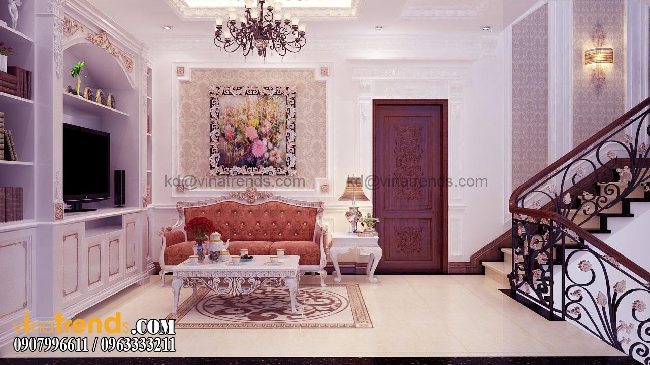 phong shc 003.RGB color.0100 Mẫu nhà biệt thự 3 tầng cổ điển mái thái 7m dài 15m nhà anh Ẩn ở Hồ Chí Minh