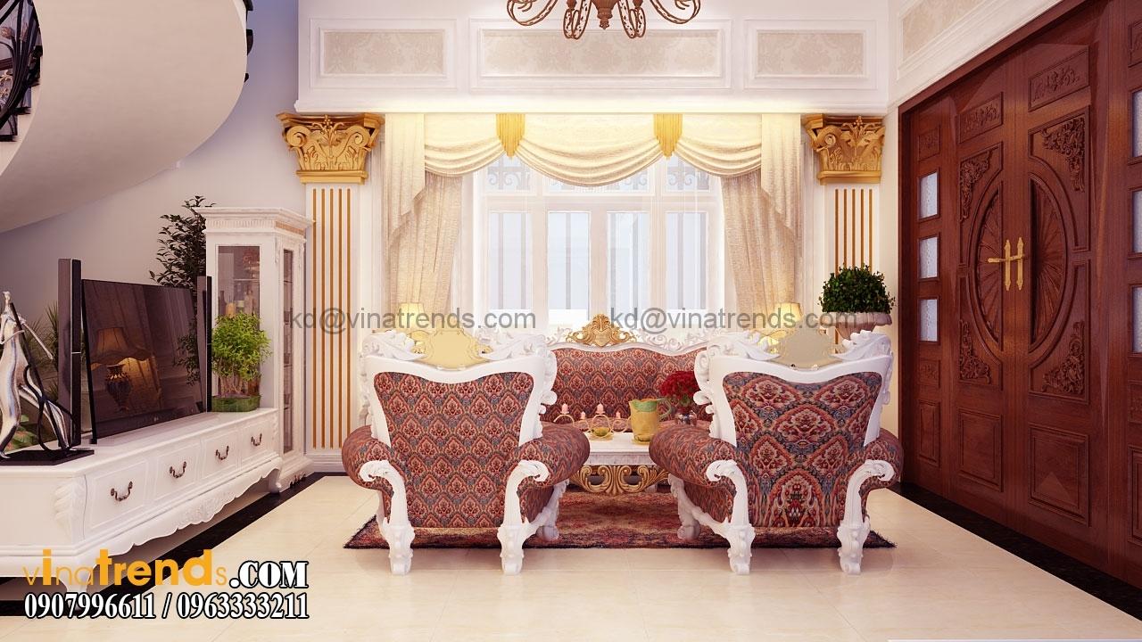 tang tret 003.RGB color.0000 Mẫu nhà biệt thự 3 tầng cổ điển mái thái 7m dài 15m nhà anh Ẩn ở Hồ Chí Minh