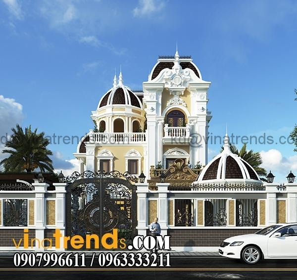 1 Những mẫu biệt thự kiểu Pháp đẹp mới lạ nhất Việt Nam   BTP191114A