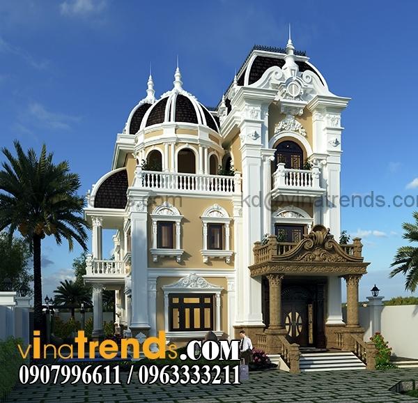 2 Dự án thiết kế biệt thự cổ điển 3 tầng 17,5x34m đẹp đê mê anh Trụ ở Tây Ninh   BTCD140416
