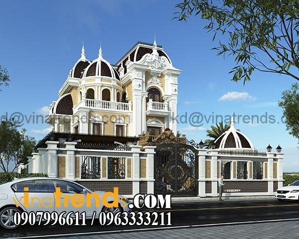 3 Dự án thiết kế biệt thự cổ điển 3 tầng 17,5x34m đẹp đê mê anh Trụ ở Tây Ninh   BTCD140416