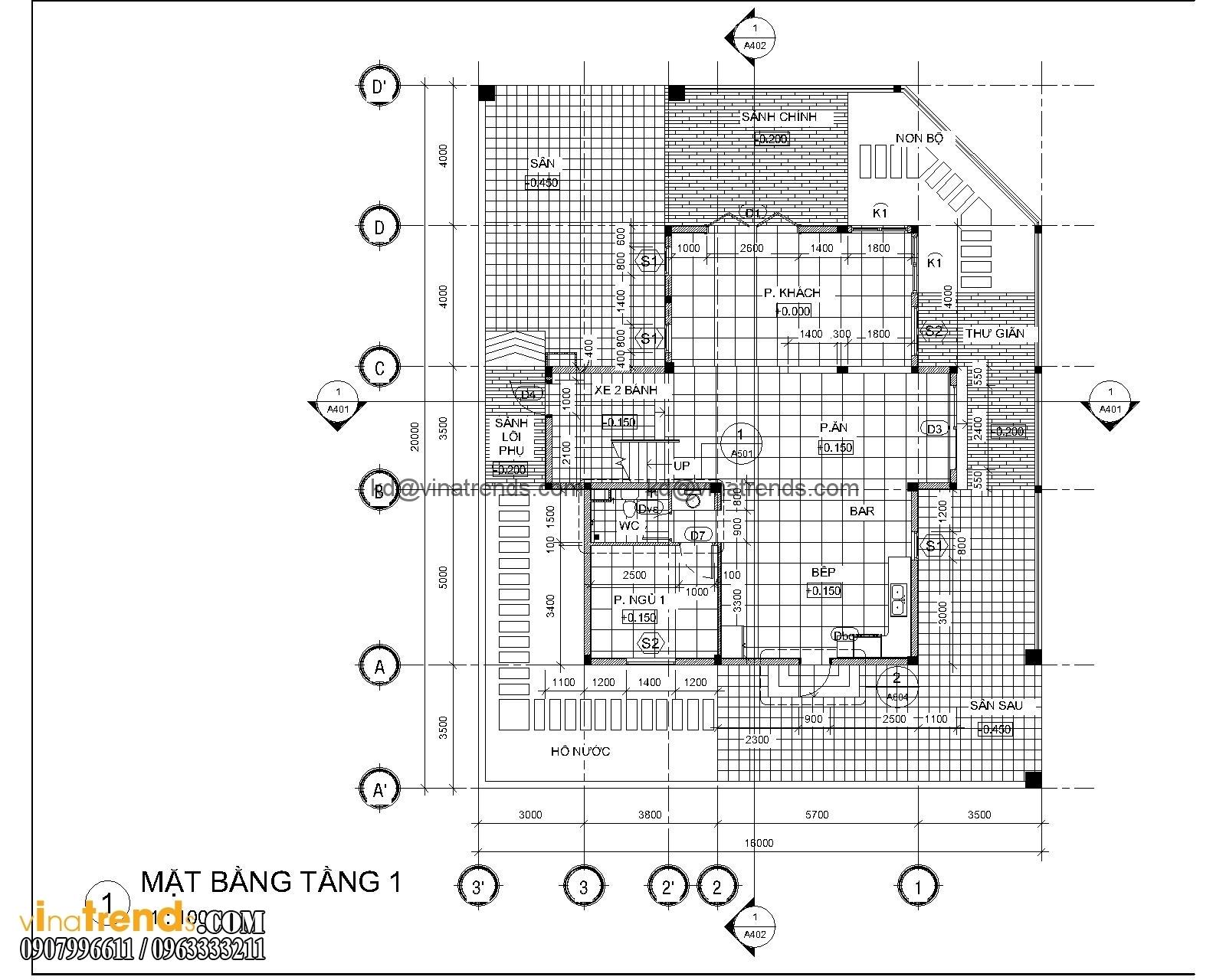 mat bang biet thu hien dai 3 tang 18x20m 6 Kiêu sa mẫu biệt thự vườn hiện đại 3 tầng 120m2 đẹp sang trọng cho bạn   BTVHD250416