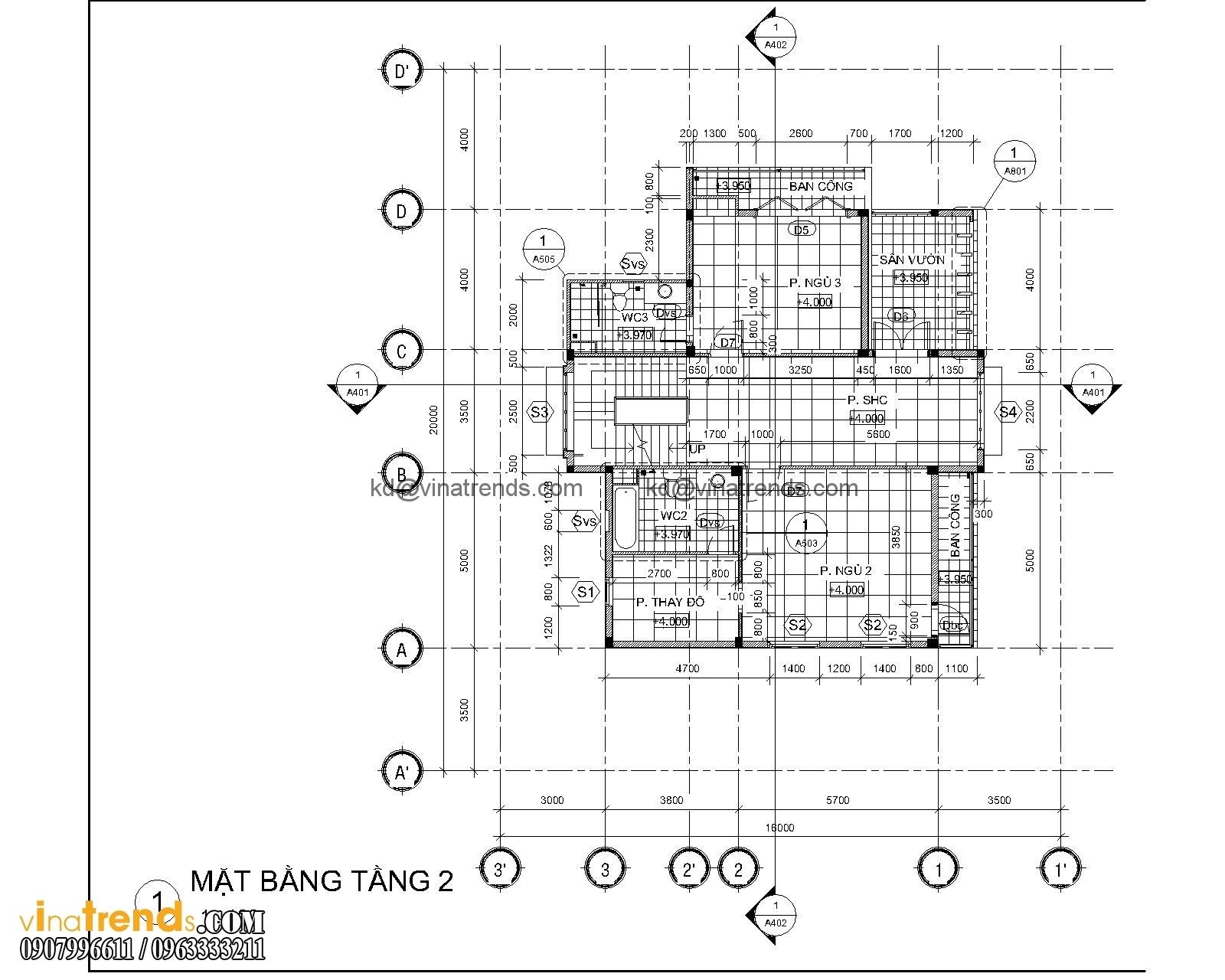 mat bang biet thu hien dai 3 tang 18x20m 7 Kiêu sa mẫu biệt thự vườn hiện đại 3 tầng 120m2 đẹp sang trọng cho bạn   BTVHD250416