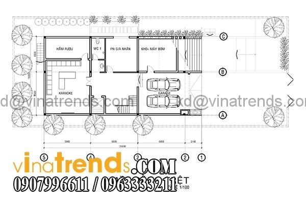 mb tert 1 Bản vẽ kiến trúc biệt thự hiện đại 4 tầng 10x20m mái lệch phong cách   BTHD300416