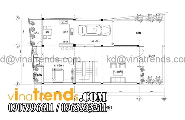 mb1 Kiến trúc biệt thự hiện đại mặt phố 3 tầng đẹp 147m2 anh Dũng Bình Phước   BT040416