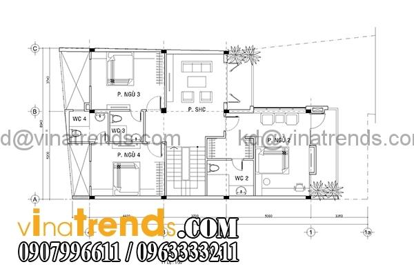 mb2 Kiến trúc biệt thự hiện đại mặt phố 3 tầng đẹp 147m2 anh Dũng Bình Phước   BT040416