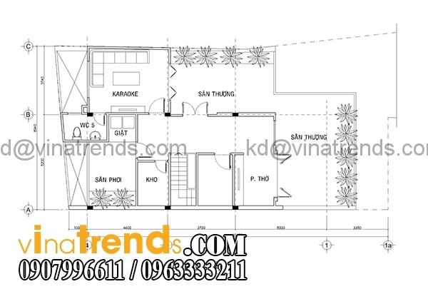 mb3 Kiến trúc biệt thự hiện đại mặt phố 3 tầng đẹp 147m2 anh Dũng Bình Phước   BT040416