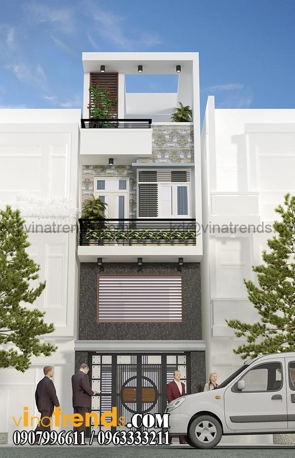 phoi canh 1 1 Hình ảnh mẫu nhà phố 4m hiện đại 4x15,5m đẹp có sân thượng   NP190416
