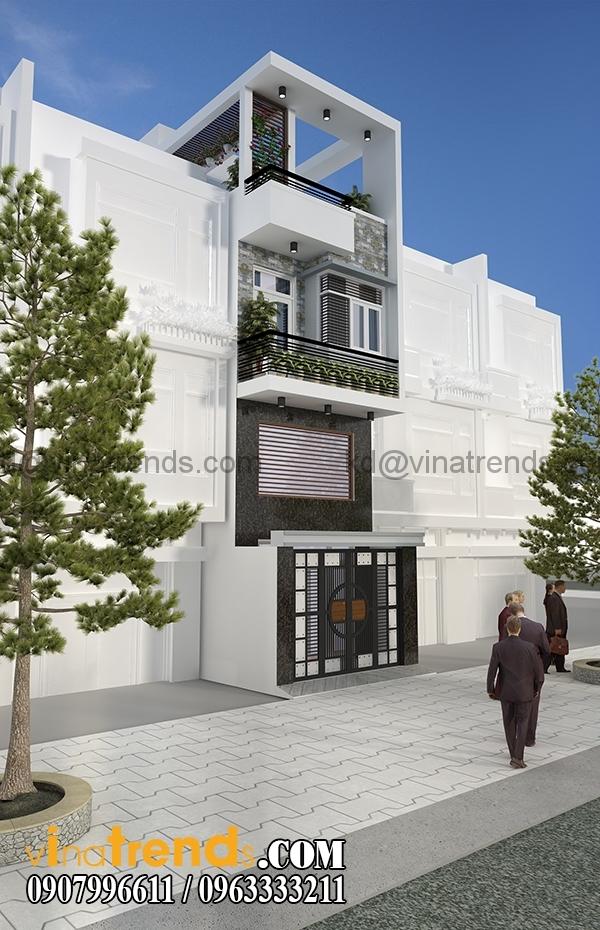 phoi canh 2 1 Hình ảnh mẫu nhà phố 4m hiện đại 4x15,5m đẹp có sân thượng   NP190416
