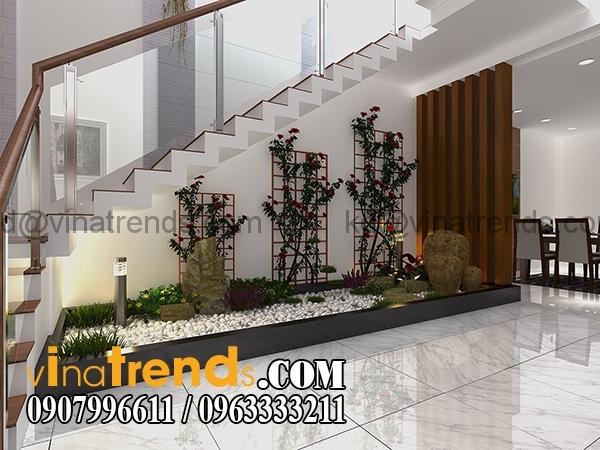 tieu canh Mẫu thiết kế nhà phố đẹp mặt tiền 4,5m 4 tầng chị Phương ở Long An   NP010416