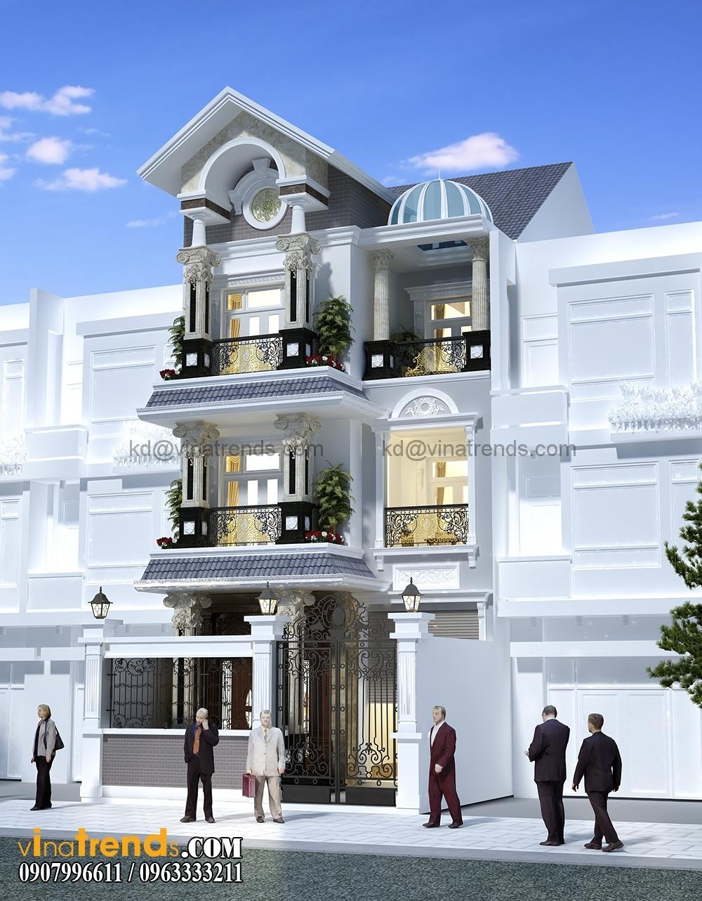 A 1 Mẫu biệt thự đẹp 3 tầng 7x15m tân cổ điển mặt tiền của TGĐ Ẩn   BT110516