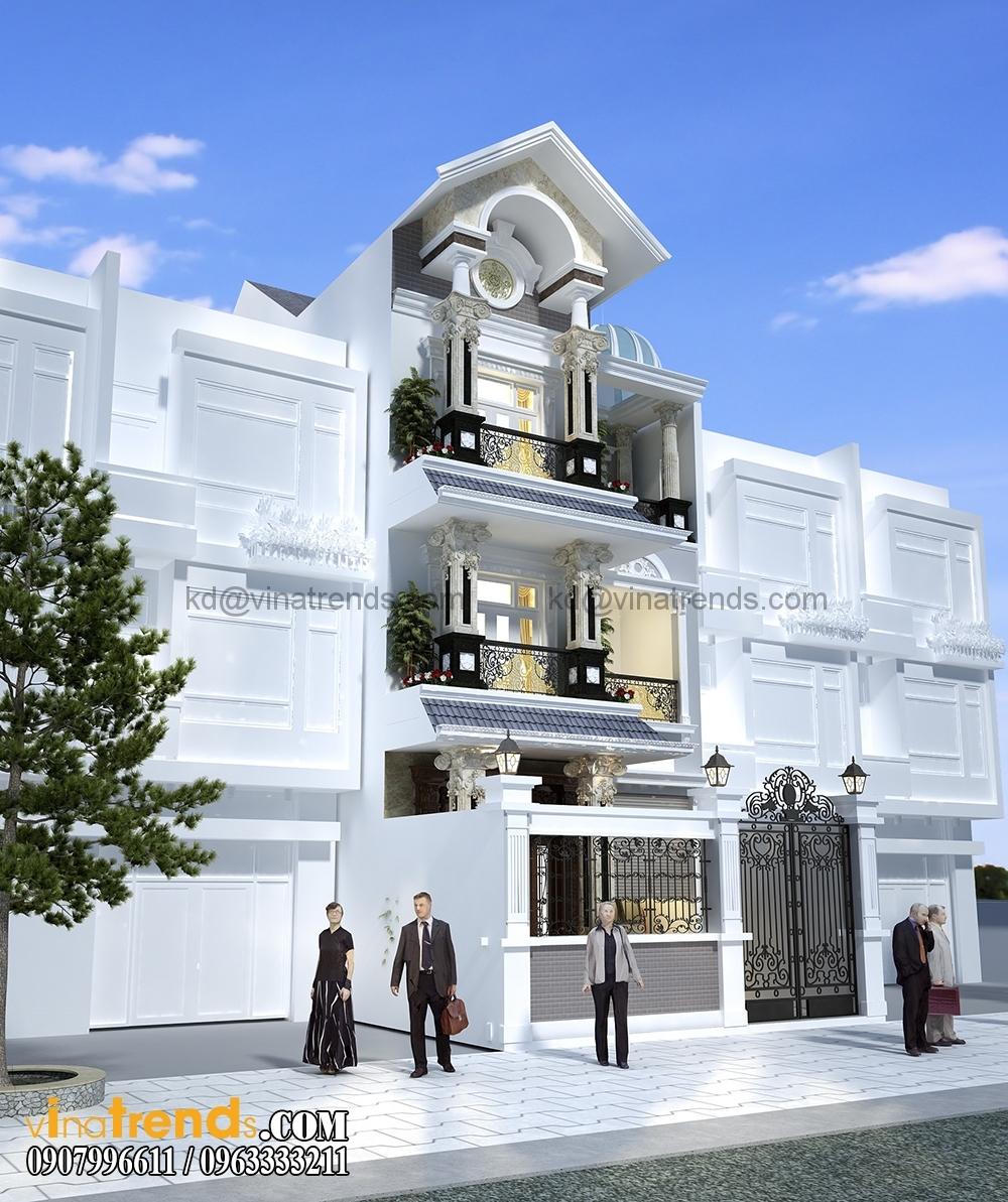 A 4 Mẫu biệt thự đẹp 3 tầng 7x15m tân cổ điển mặt tiền của TGĐ Ẩn   BT110516