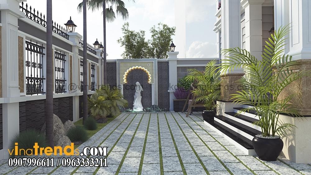 A 6 Kiến trúc biệt thự hiện đại 2 tầng 8,5x14m đẹp sân vườn chị Mai Long An