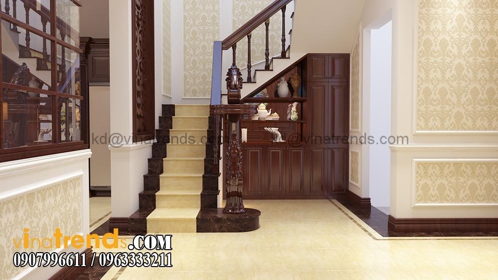 CAU THANG Mẫu biệt thự đẹp 3 tầng 7x15m tân cổ điển mặt tiền của TGĐ Ẩn   BT110516