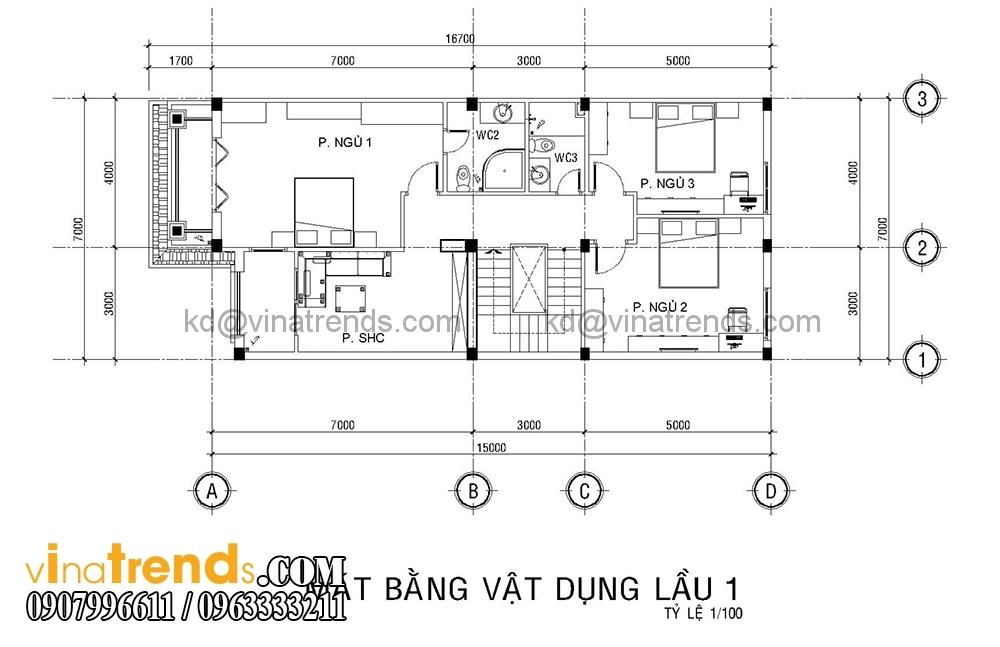 mb 2 Mẫu biệt thự đẹp 3 tầng 7x15m tân cổ điển mặt tiền của TGĐ Ẩn   BT110516
