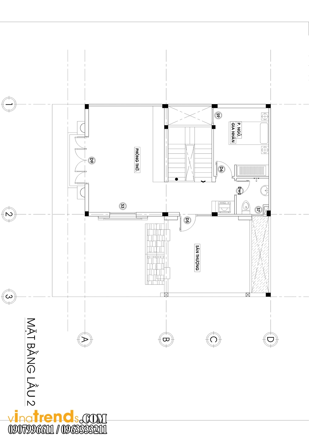 mb3 Trang trí nội thất gia đình nhà anh Cẩm ở Quận 7 kèm theo bản vẽ chi tiết