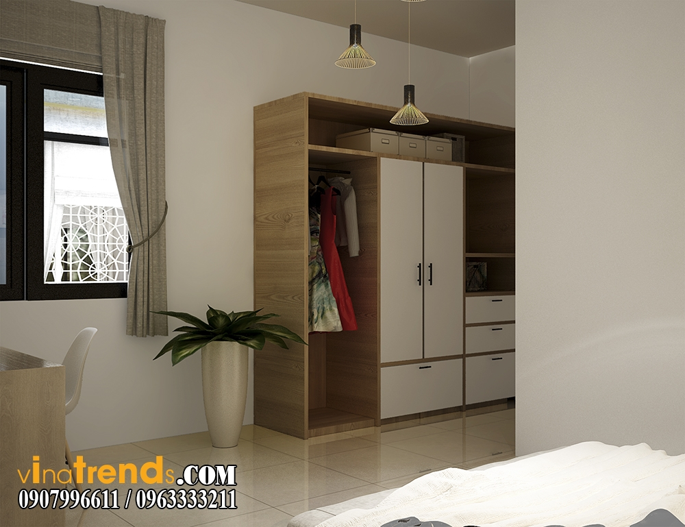 pc phong ngu 05 Chia sẻ mẫu nội thất biệt thự mini đẹp nhà Vinh ở Vĩnh Cữu