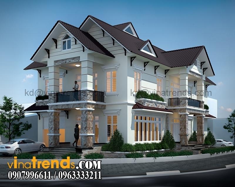 trang1144 Mẫu thiết kế biệt thự tân cổ điển 2 tầng đẹp 12,8x18,6m càng ngắm càng mê   BT260615A