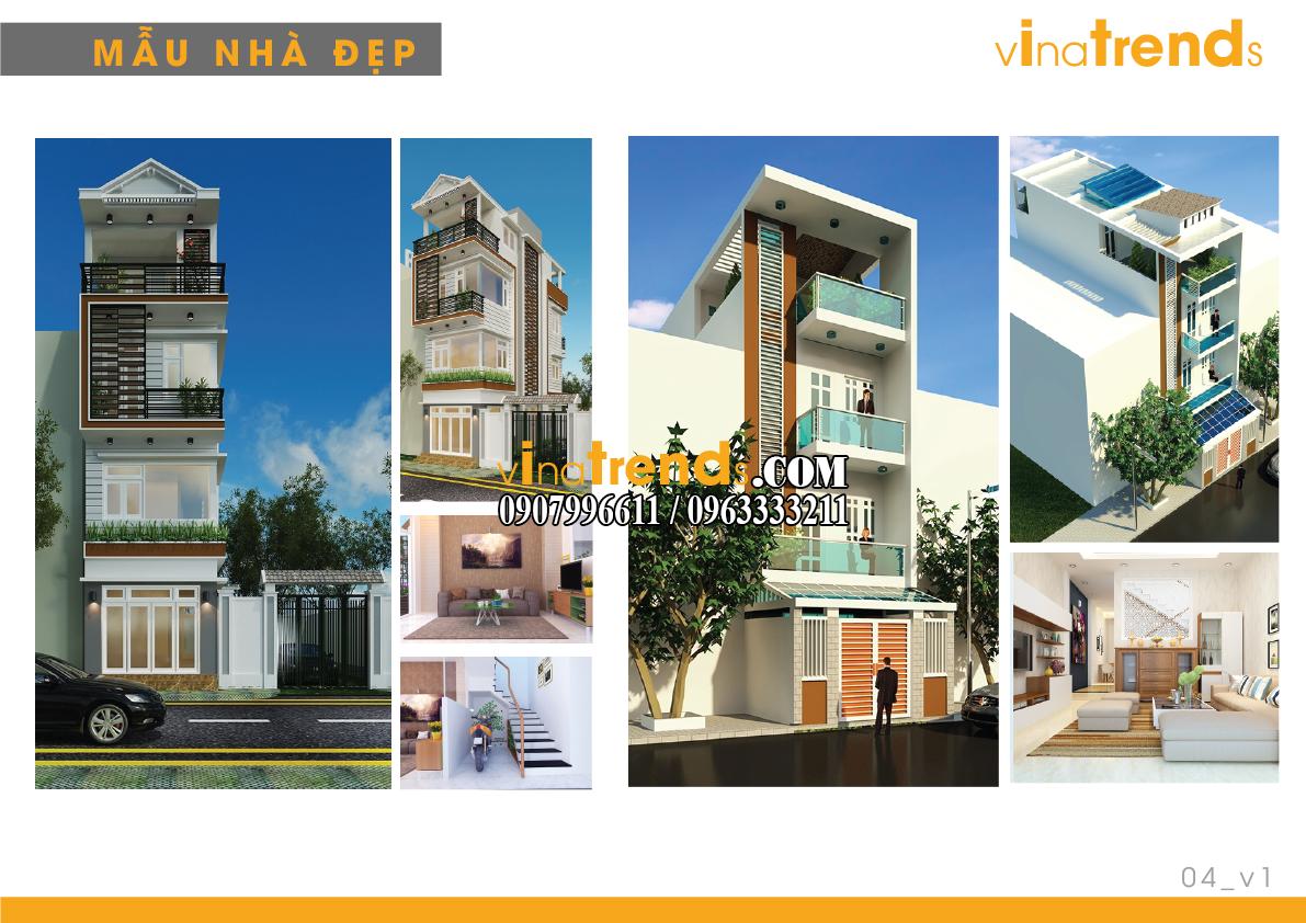 mau nha pho dep 4m vinatrends 1 14 mẫu thiết kế nhà phố đẹp 4m lựa chọn nhiều nhất năm nay