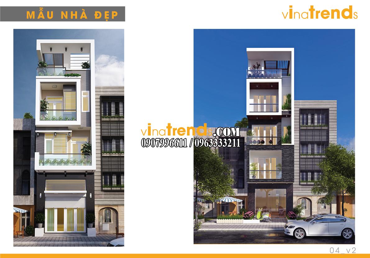 mau nha pho dep 4m vinatrends 2 14 mẫu thiết kế nhà phố đẹp 4m lựa chọn nhiều nhất năm nay