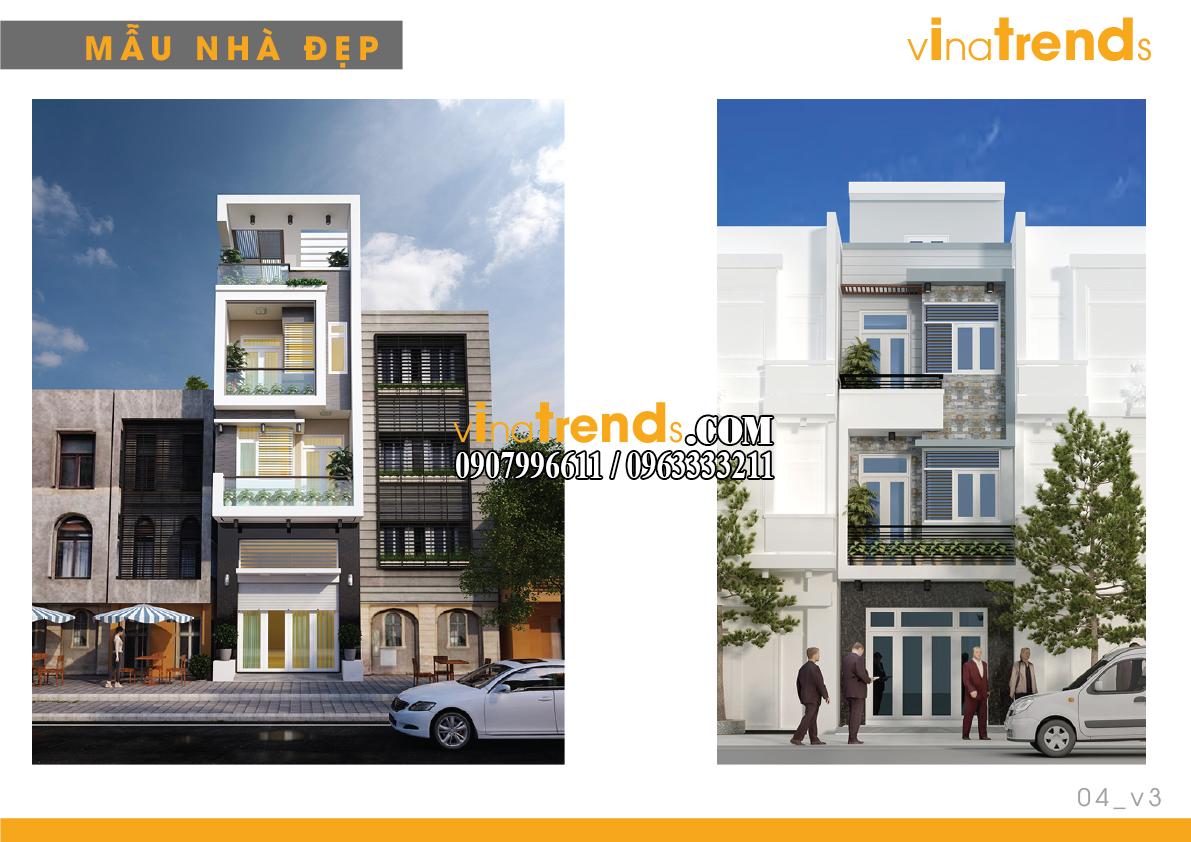 mau nha pho dep 4m vinatrends 3 14 mẫu thiết kế nhà phố đẹp 4m lựa chọn nhiều nhất năm nay