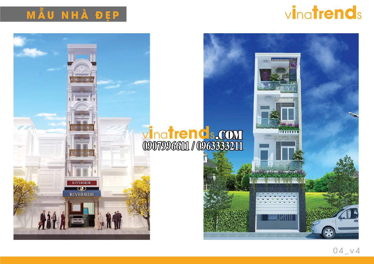 mau nha pho dep 4m vinatrends 4 14 mẫu thiết kế nhà phố đẹp 4m lựa chọn nhiều nhất năm nay