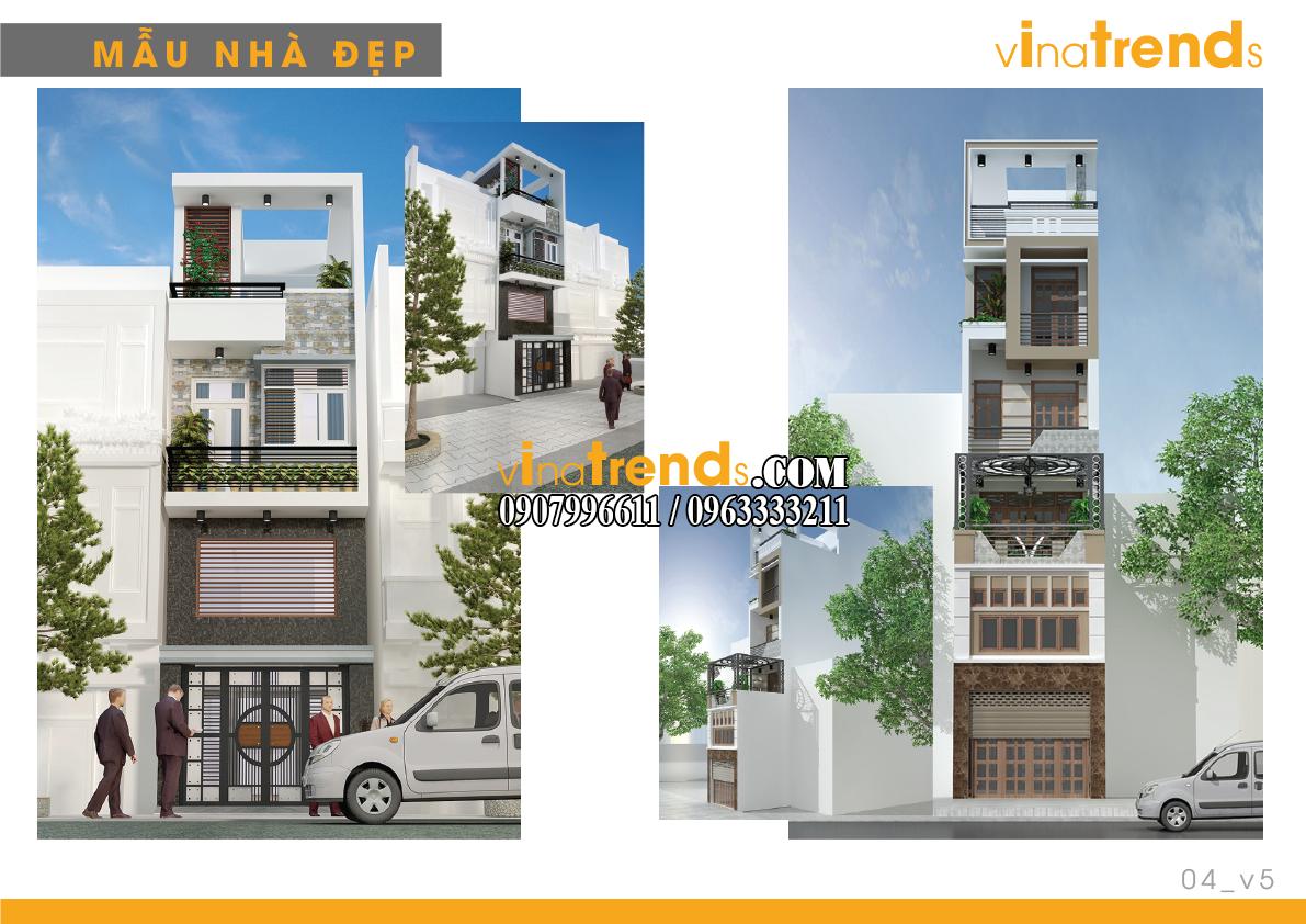 mau nha pho dep 4m vinatrends 5 14 mẫu thiết kế nhà phố đẹp 4m lựa chọn nhiều nhất năm nay
