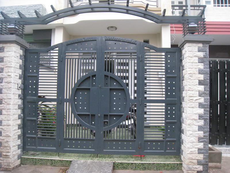 mau cong sat dep 2 Bộ sưu tập mẫu cửa cổng sắt theo lối hiện đại