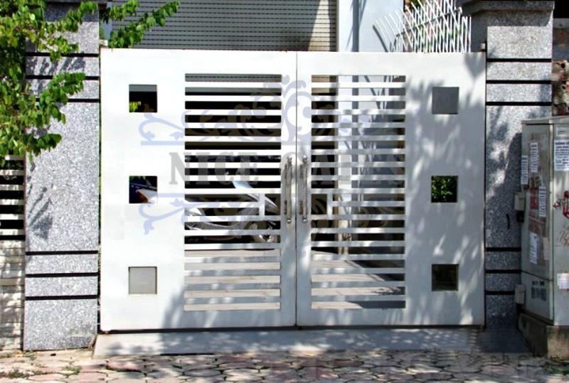 mau cong sat dep 5 Bộ sưu tập mẫu cửa cổng sắt theo lối hiện đại