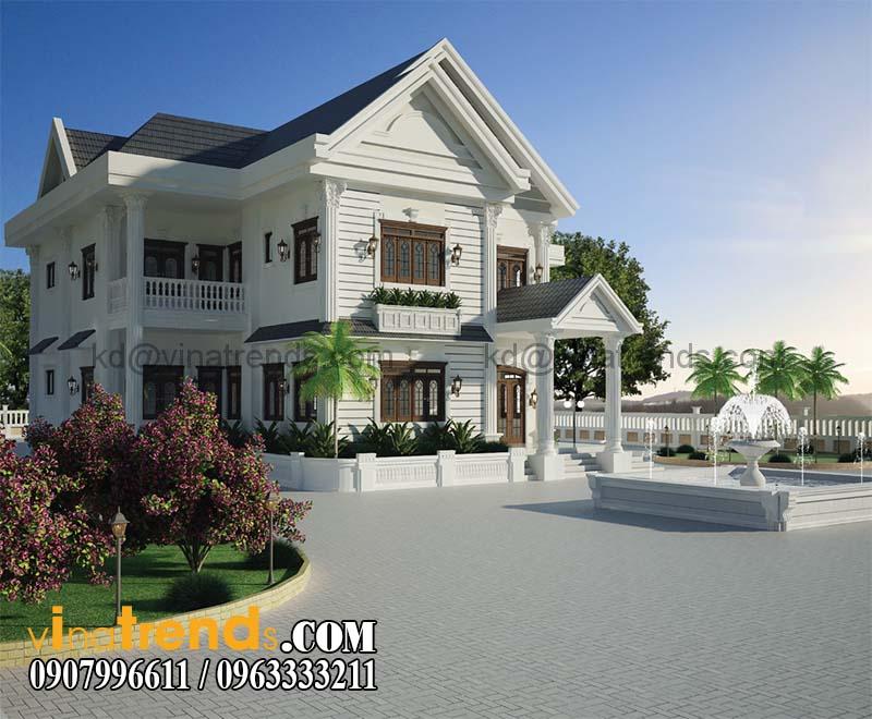 biet thu dep nhat viet nam mẫu nhà 2 tầng đẹp quy mô biệt thự sang trọng tại Cà Mau   BT100