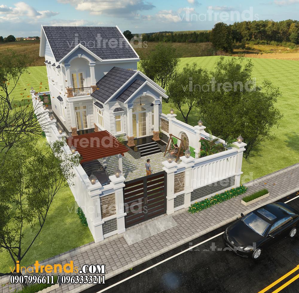 mau biet thu 2 tang 10x16m dep co san vuon nha anh Minh Binh Phuoc vinatrends 12 bản thiết kế mẫu biệt thự hiện đại 2 3 4 tầng tặng độc giả thiết kế thi công năm 2017