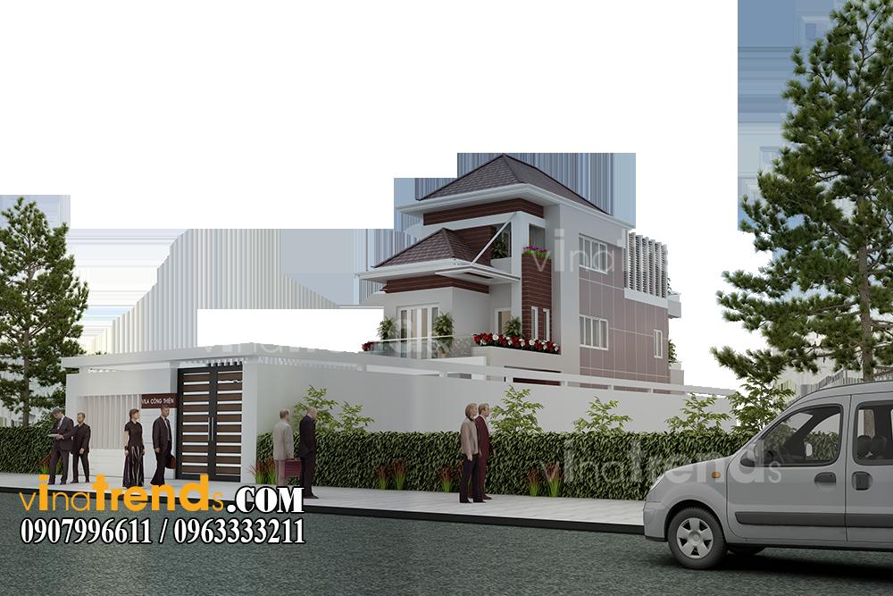 mau biet thu 2 tang san vuon mat tien 7x17m anh thien tien giang 1 12 bản thiết kế mẫu biệt thự hiện đại 2 3 4 tầng tặng độc giả thiết kế thi công năm 2017
