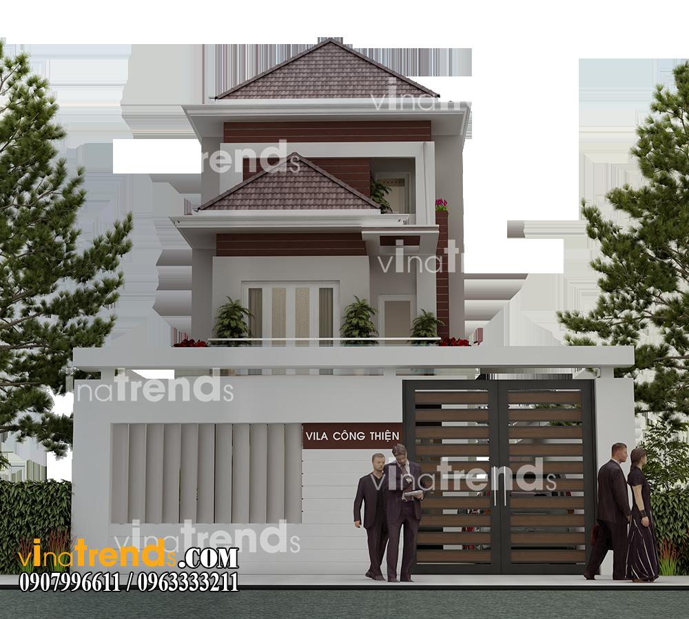 mau biet thu 2 tang san vuon mat tien 7x17m anh thien tien giang 12 bản thiết kế mẫu biệt thự hiện đại 2 3 4 tầng tặng độc giả thiết kế thi công năm 2017
