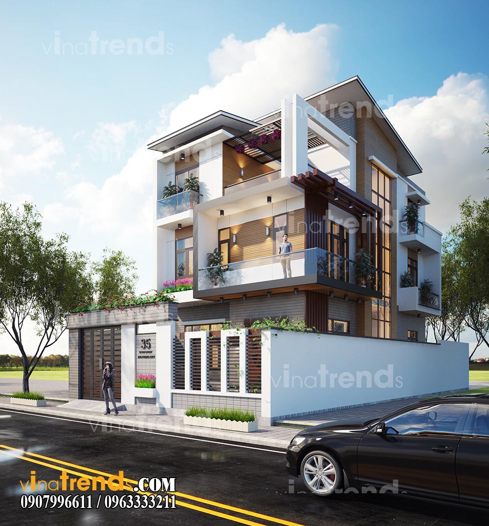 mau biet thu 3 tang hien dai dep 200m2 anh Thinh Quan 11 12 bản thiết kế mẫu biệt thự hiện đại 2 3 4 tầng tặng độc giả thiết kế thi công năm 2017
