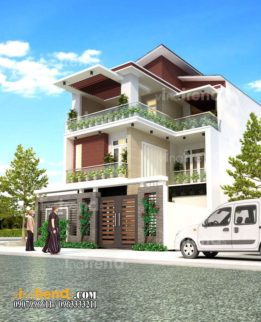 mau biet thu hien dai dep 2 tang 1 tret 9x16m anh Dung Thu Duc 1 12 bản thiết kế mẫu biệt thự hiện đại 2 3 4 tầng tặng độc giả thiết kế thi công năm 2017