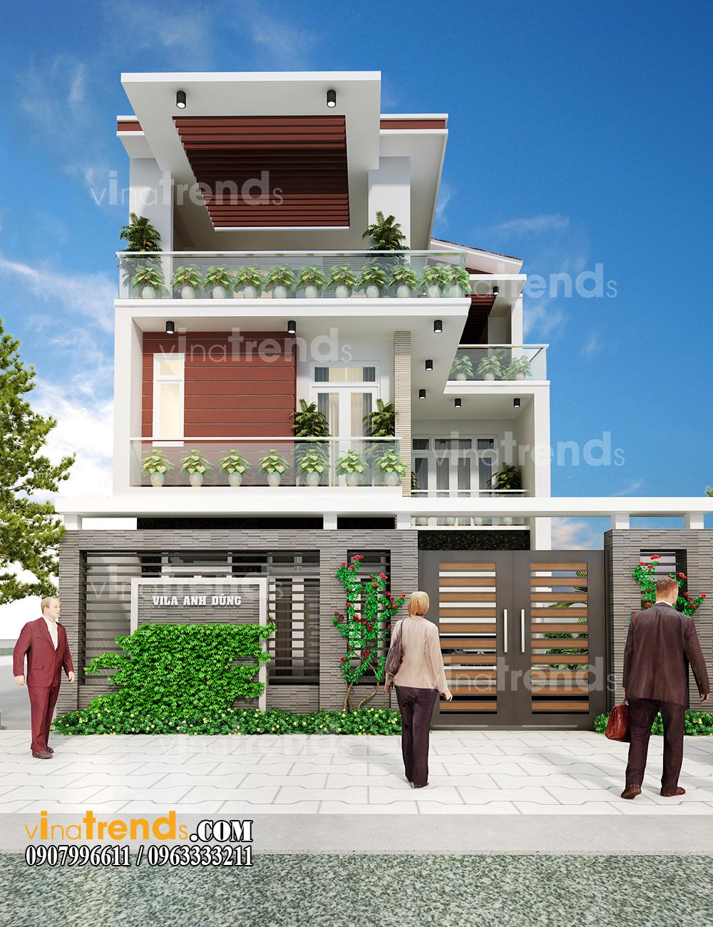mau biet thu hien dai dep 2 tang 1 tret 9x16m anh Dung Thu Duc 12 bản thiết kế mẫu biệt thự hiện đại 2 3 4 tầng tặng độc giả thiết kế thi công năm 2017