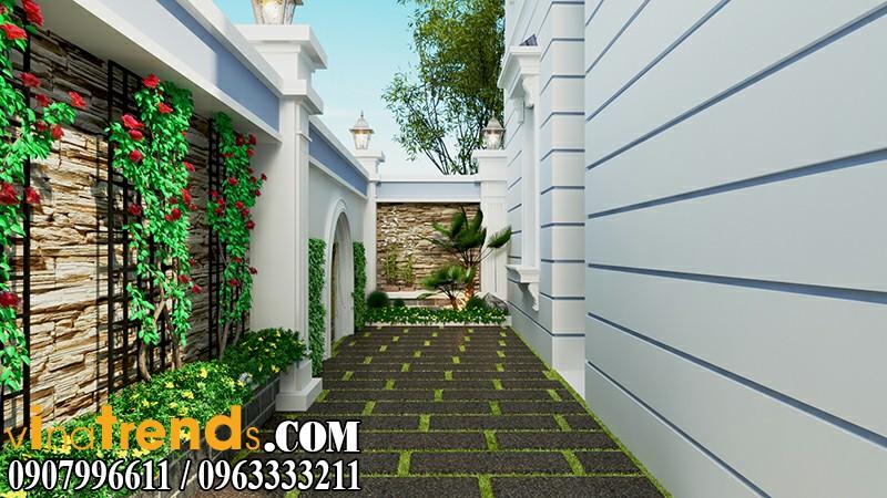 tieu canh san vuon dep Thiết kế biệt thự mini 2 tầng đẹp nguy nga mà chi phí thấp   BT10
