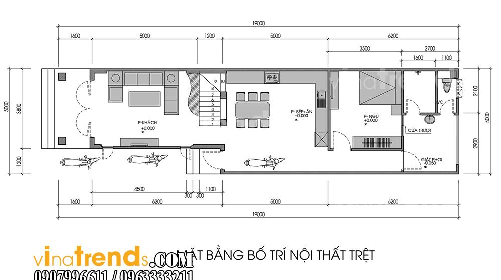 3 Đừng ngạc nhiên mẫu nhà đẹp 2 tầng mái thái 5x20m như biệt thự của anh Lộc Trảng Dài