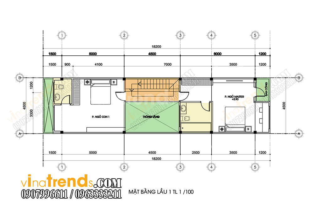 mb tang 1 mau nha pho 3 tang 45x18m Xem mẫu nhà phố đẹp 3 tầng 4,5x18m chinh phục anh Long sau 1 tuần bàn giao