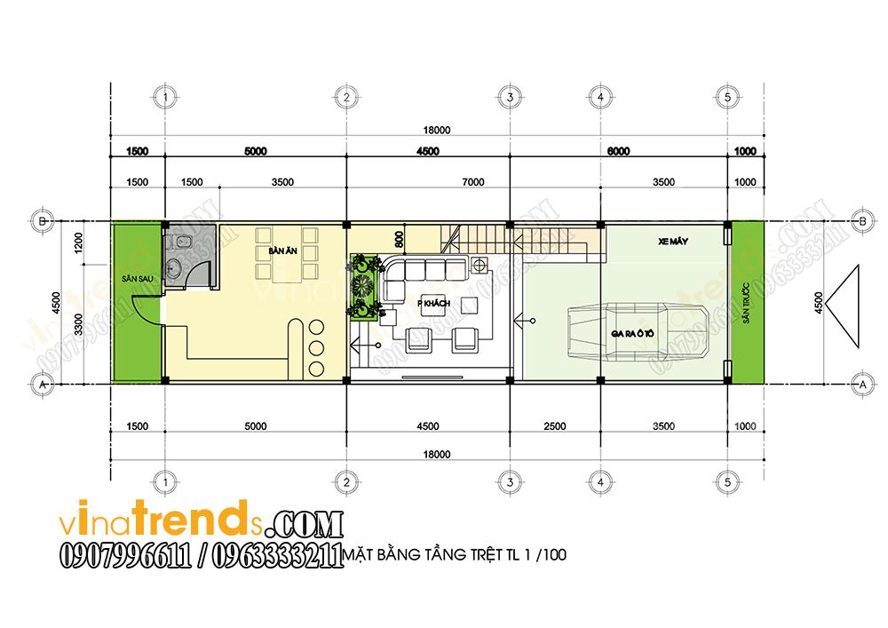 mb tang tret mau nha pho 3 tang 45x18m Xem mẫu nhà phố đẹp 3 tầng 4,5x18m chinh phục anh Long sau 1 tuần bàn giao