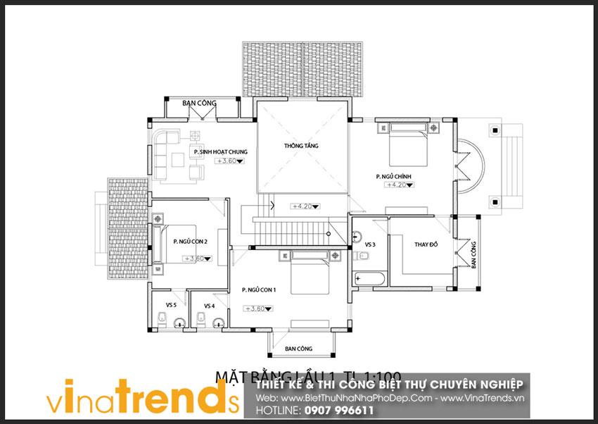 mat bang tang 1 biet thu 3 tang 18x10m chu dinh o nhon trach Full thiết kế mẫu biệt thự 3 tầng rộng trên 1000m2 đẹp soái ngôi ở xã Phước Thiền   ĐN