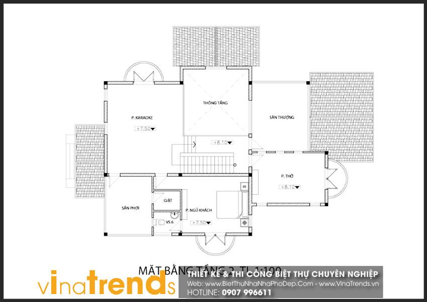 mat bang tang 2 biet thu 3 tang 18x10m chu dinh o nhon trach dep Full thiết kế mẫu biệt thự 3 tầng rộng trên 1000m2 đẹp soái ngôi ở xã Phước Thiền   ĐN