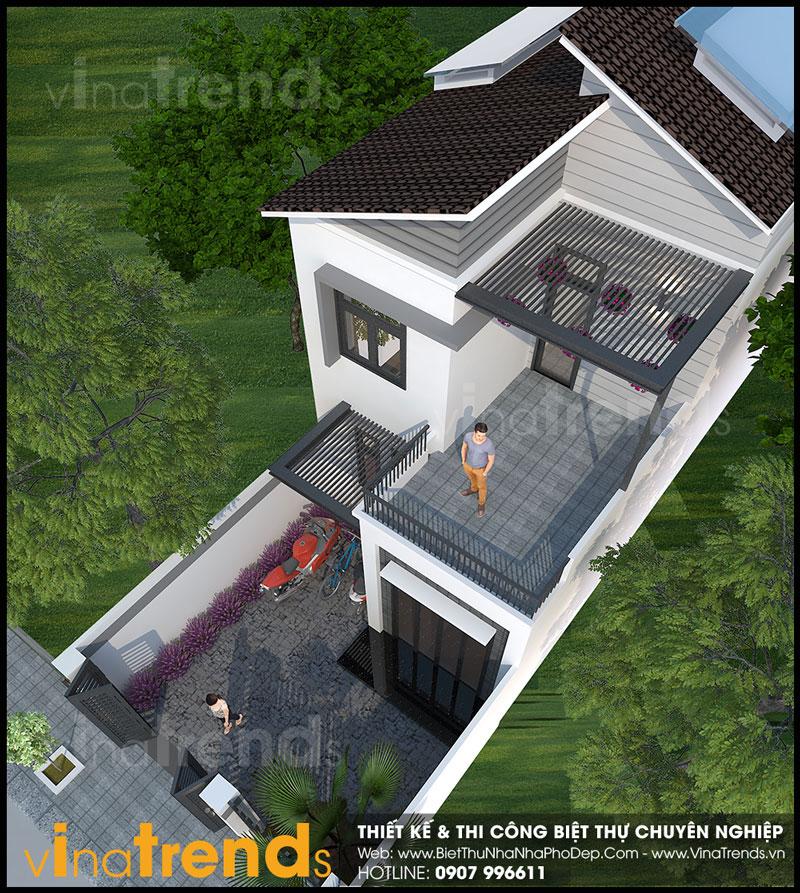mau nha 2 tang mat tien 6m nang 12m dep 4 Mẫu nhà 2 tầng đẹp mặt tiền 6x12m có sân trước  sân thượng cho cô vợ yêu thiên nhiên