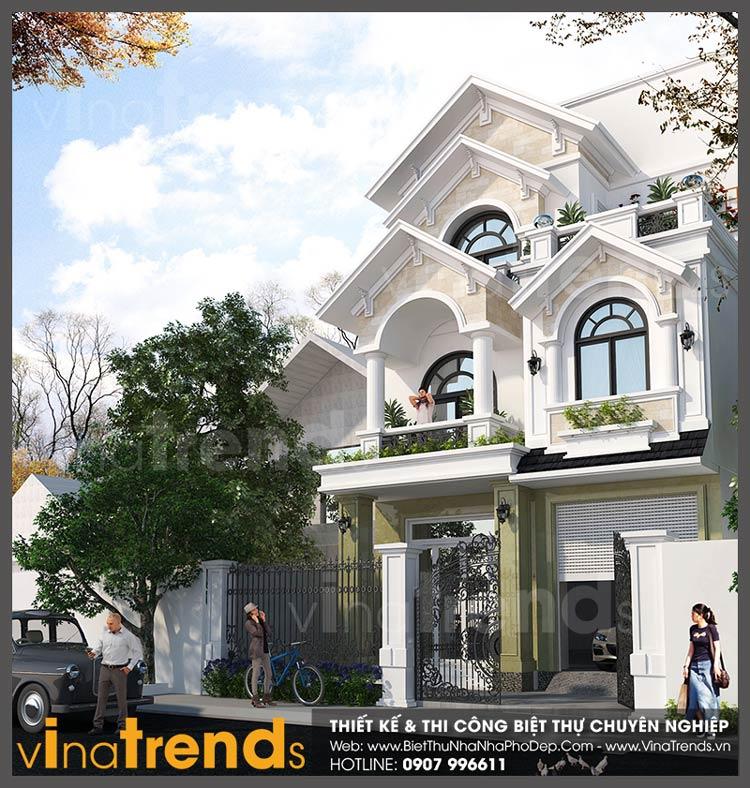 mau nha 2 tang mat tien 7m ngang 15m nha a hoa tan phong vinatrends 1 12 mẫu nhà biệt thự đẹp 1 2 3 4 tầng ở Biên Hòa sẽ thi công năm 2018 – 2019