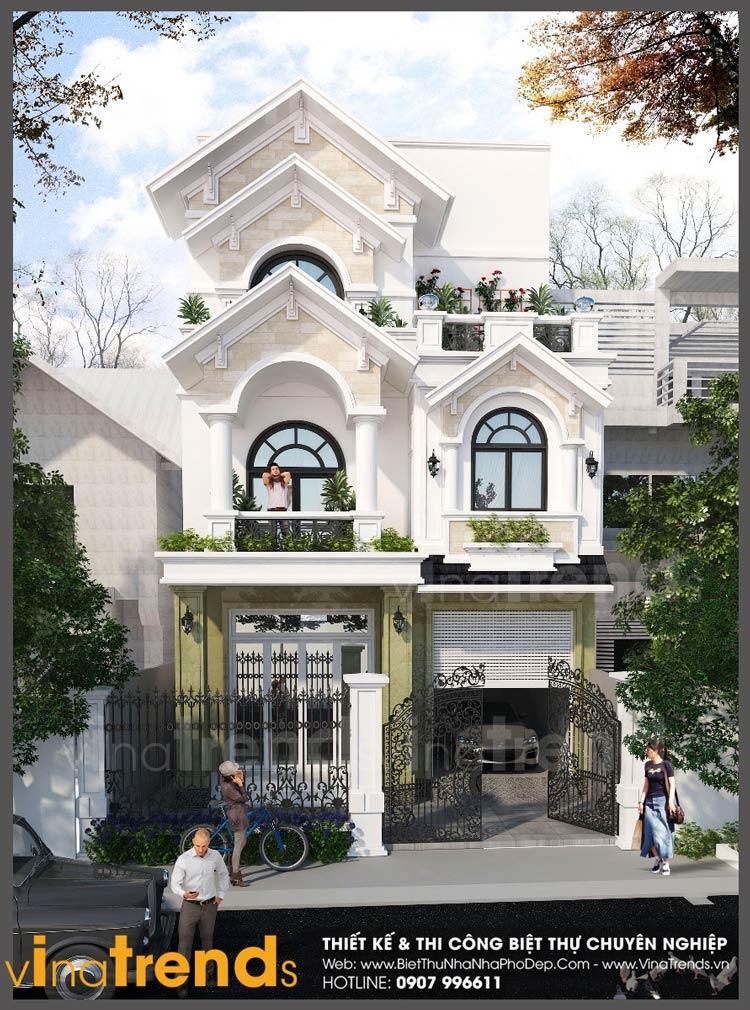 mau nha 2 tang mat tien 7m ngang 15m nha a hoa tan phong vinatrends 12 mẫu nhà biệt thự đẹp 1 2 3 4 tầng ở Biên Hòa sẽ thi công năm 2018 – 2019