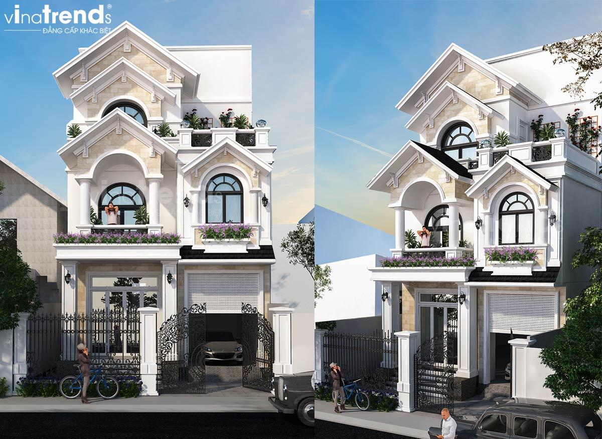 mau nha 3 tang mai thai tan co dien dep Mẫu biệt thự 3 tầng mái thái tân cổ điển 7mx15m đẹp nhất nhì khu dân cư chợ Tân Phong Biên Hòa