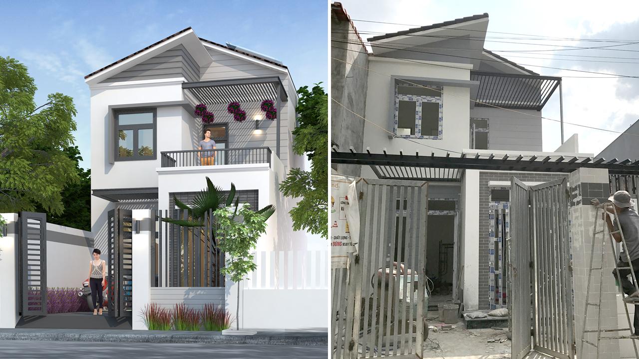 thi cong nha 2 tang dep o bien hoa 1 Hơn 30 mẫu thiết kế nhà đẹp ở Biên Hòa được Vinatrends chinh phục chủ đầu tư nhờ yếu tố gì?