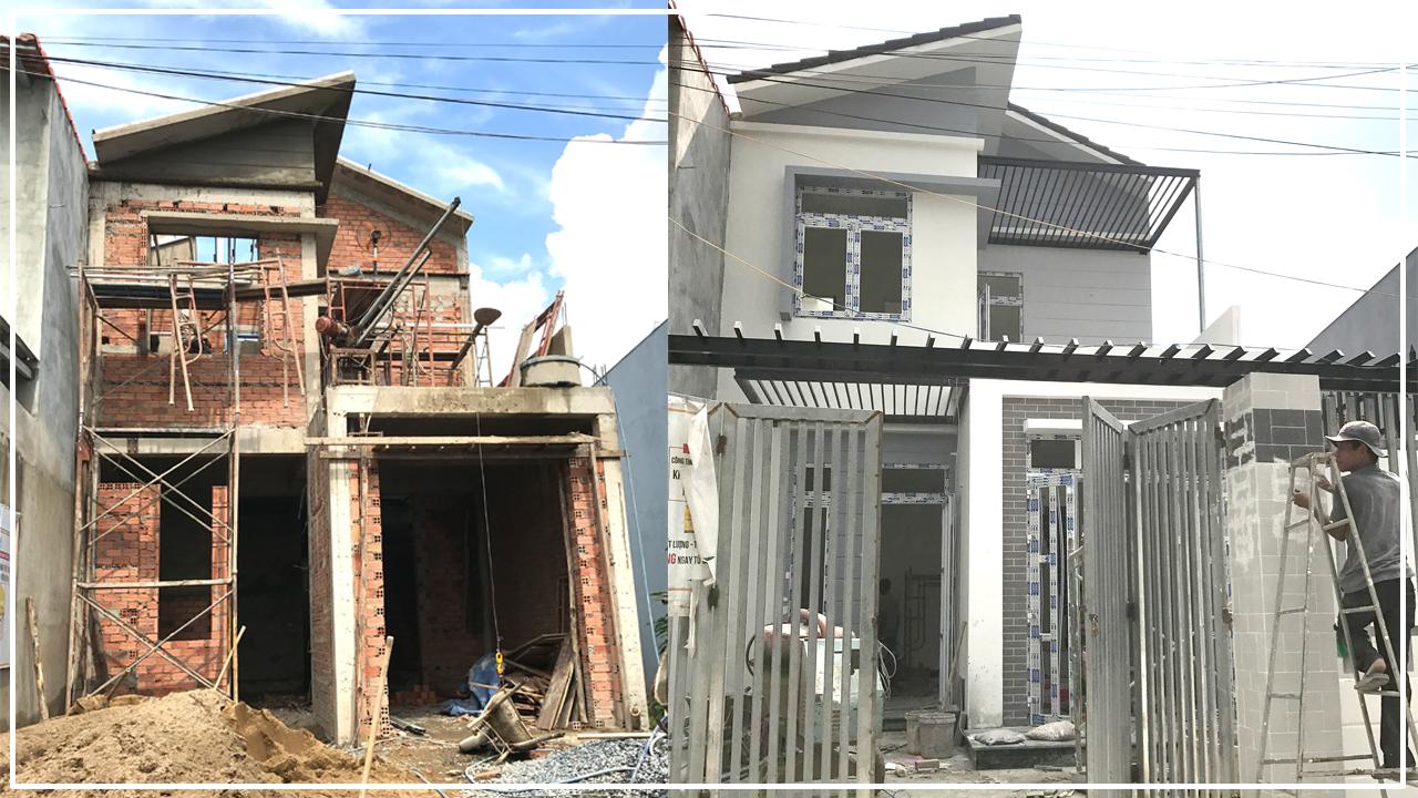 thi cong nha 2 tang dep o bien hoa 3 Hơn 30 mẫu thiết kế nhà đẹp ở Biên Hòa được Vinatrends chinh phục chủ đầu tư nhờ yếu tố gì?
