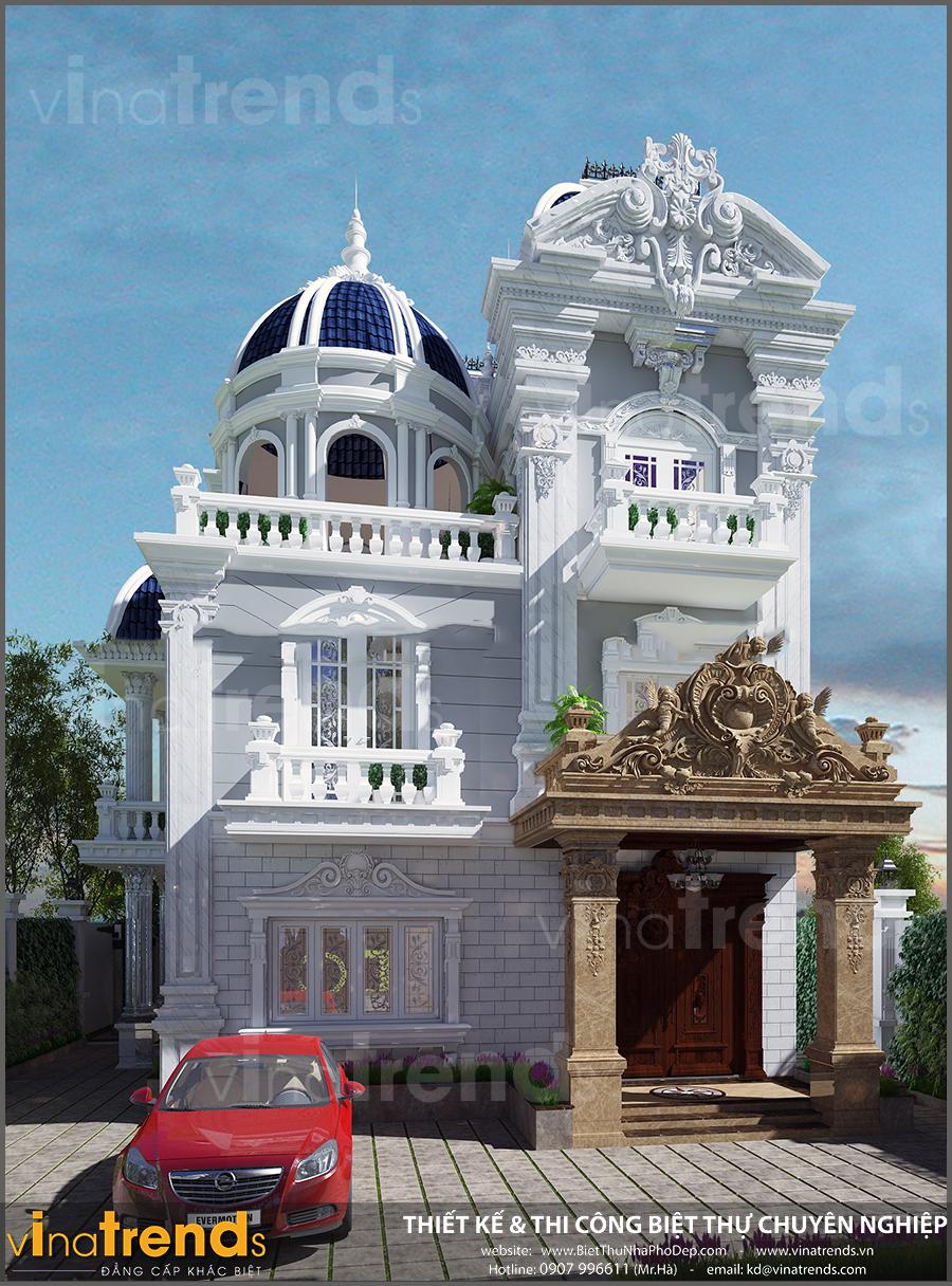 biet thu 2 tang co dien dep mat tien 9m ngang 18m vinatrends 2 Những mẫu biệt thự 3 tầng đẹp năm 2017 được chủ nhà rót tiền tỷ hưởng thụ