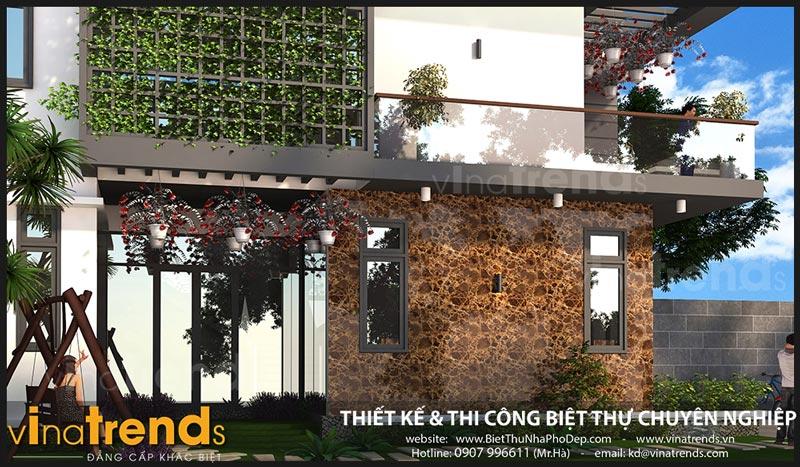 biet thu 2 tang hien dai 75m ngang 15m 50 khong gian xanh chi hy o dak lak 1 Chốt mẫu nhà đẹp 2 tầng mặt tiền 7,5x15m hơn 50% không gian xanh ở Dak Lak